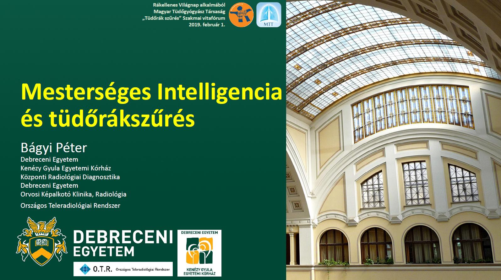 Mesterséges Intelligencia és tüdőrákszűrés (MTT - 2019.02.01)