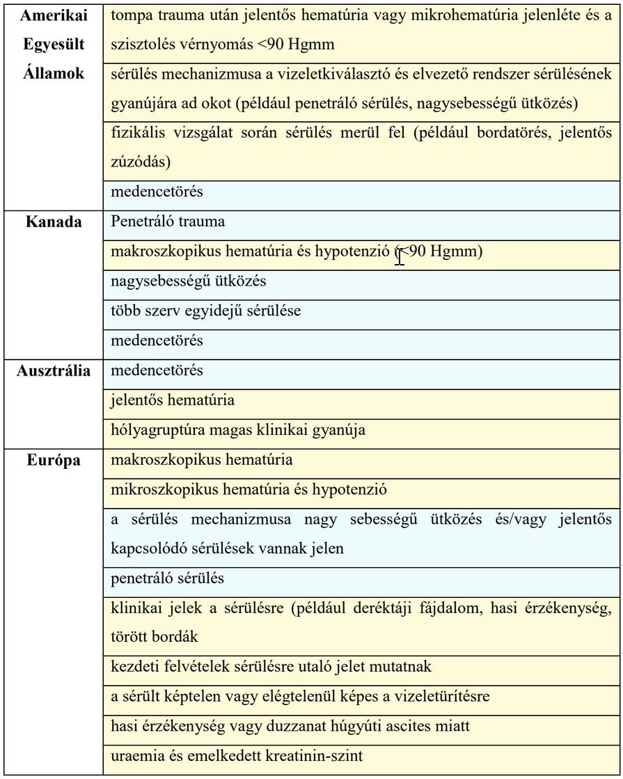 térdkötési sérülések áttekintése)