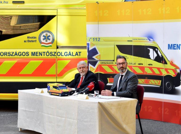 Újabb 62 mentőautó érkezikaz Országos Mentőszolgálathoz