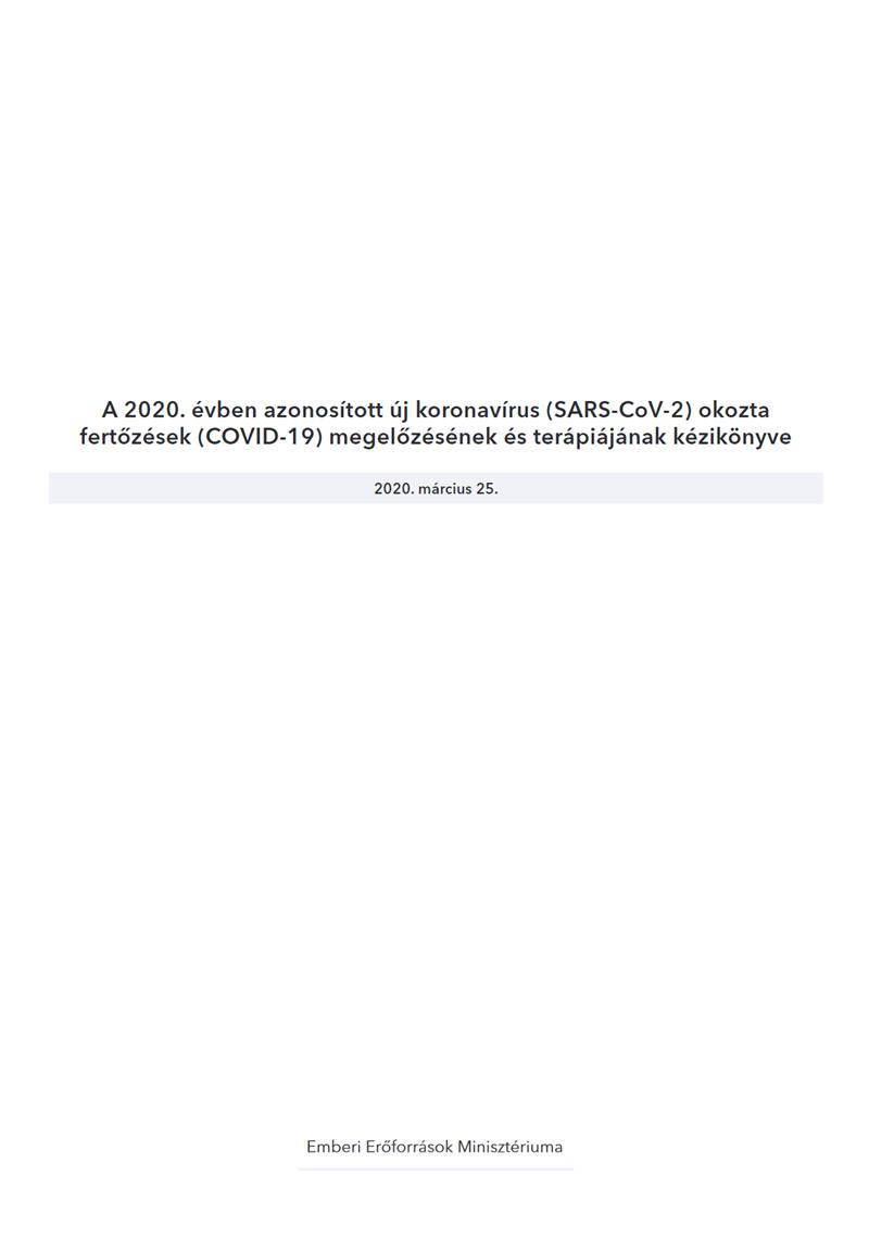 Magyar Koronavírus Kézikönyv (2020.03.28.)